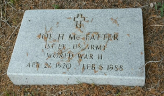Daddy's Military Headstone