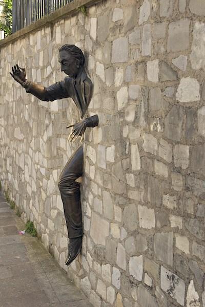 Sculpture by Jean Marais, Place Marcel-Aymé Paris